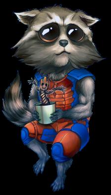 Принт Кепка Єнот Ракета і Грут, Фото № 1 - FatLine