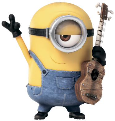 Принт Мужские шорты Миньон с гитарой - FatLine