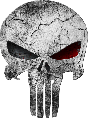 Принт Футболка Поло The Punisher Logo - FatLine