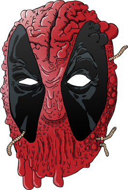 Принт Штаны Deadpool Art - FatLine