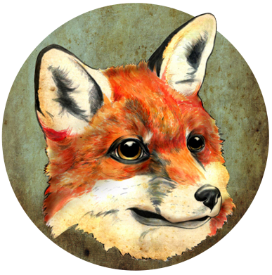 Принт Шапка Fox Art - FatLine