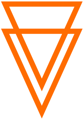 Принт Мужская футболка  с V-образным вырезом Triangles - FatLine