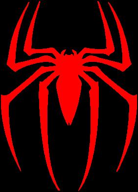 Принт Женская футболка с V-образным вырезом Spider Man Logo - FatLine