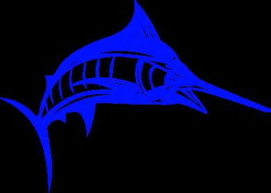 Принт Женская футболка поло Рыба Марлин - FatLine