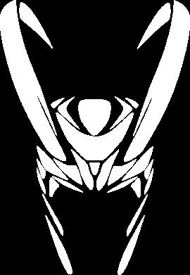 Принт Тельняшка с длинным рукавом Шлем Локи - FatLine