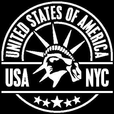 Принт Мужская толстовка на молнии USA NYC - FatLine