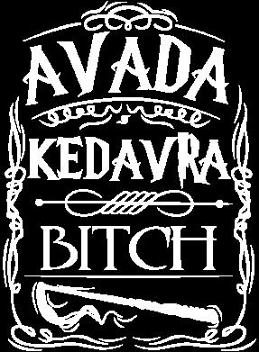 Принт Женская футболка с V-образным вырезом Avada Kedavra Bitch - FatLine