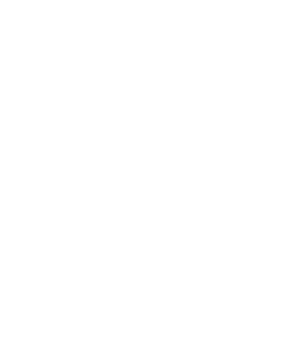 Принт Женская майка Music makes the world a better place - FatLine
