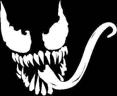 Принт Женская футболка Venom Silhouette - FatLine