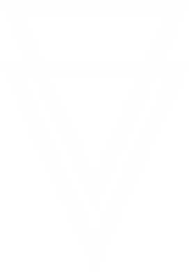 Принт Женская футболка с V-образным вырезом Triangles - FatLine
