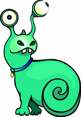 Принт Женская футболка Green monster snail, Фото № 1 - FatLine