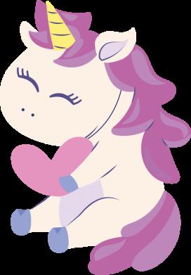 Принт Женская футболка Unicorn with love, Фото № 1 - FatLine