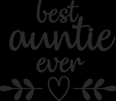 Принт Жіноча футболка Best auntie ever, Фото № 1 - FatLine