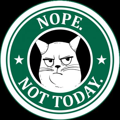 Принт Женская футболка Nope not today, Фото № 1 - FatLine