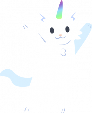 Принт Жіноча футболка White cheerful cat, Фото № 1 - FatLine
