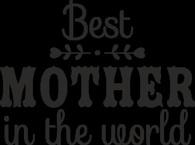 Принт Жіноча футболка Best mother in the world, Фото № 1 - FatLine