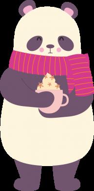 Принт Женская футболка Panda and Cappuccino, Фото № 1 - FatLine