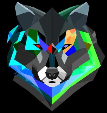 Принт Футболка Сolorful wolf - FatLine