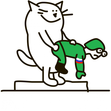 Принт Мужская толстовка на молнии Kit-Kat - FatLine