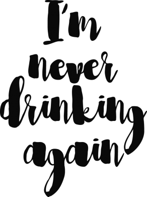 Принт Чехол для Samsung A7 2016 I'm never drinking again - FatLine