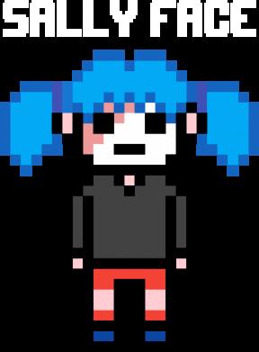 Принт Жіноча футболка Sally face pixel, Фото № 1 - FatLine
