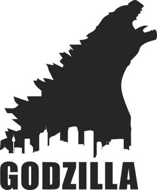 Принт Подушка Godzilla and city - FatLine