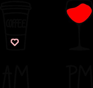 Принт Жіноча футболка Кофе и бокал с вином, Фото № 1 - FatLine