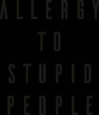 Принт Кружка 320ml Allergy To Stupid People, Фото № 1 - FatLine