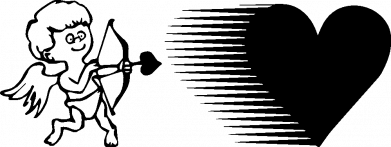Принт Кружка 320ml Купидон, Фото № 1 - FatLine