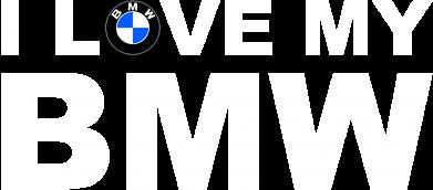 Принт Майка-тельняшка I love my BMW - FatLine