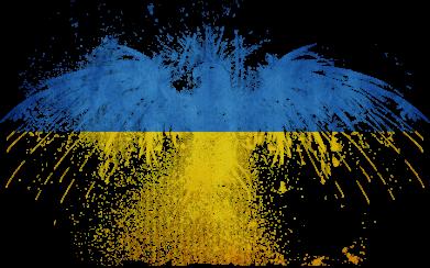 Принт Кружка 320ml Жовто-блакитний птах - FatLine