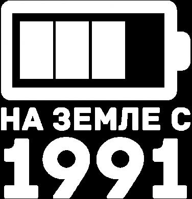 Принт Мужская толстовка на молнии 1991 - FatLine