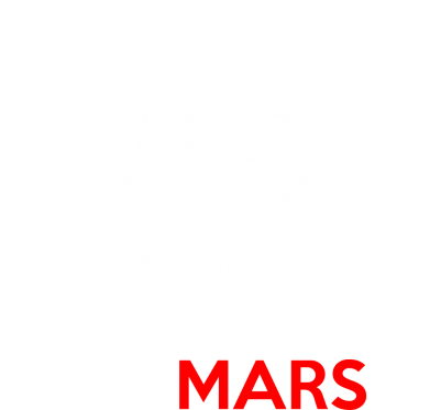 Принт Футболка з довгим рукавом Keep Calm and listen 30 seconds to mars - FatLine