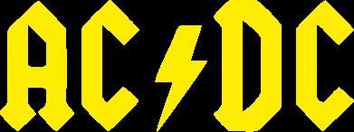 Принт Наклейка AC DC - FatLine