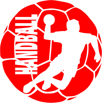 Принт Женская футболка с V-образным вырезом Handball Logo - FatLine