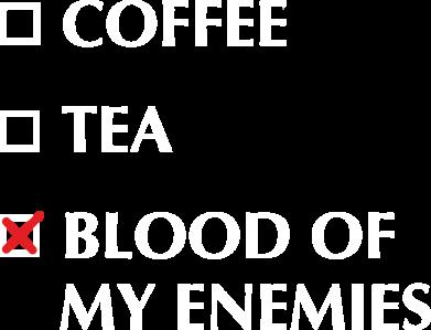 Принт Жіноча футболка Blood of my enemies, Фото № 1 - FatLine
