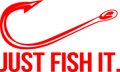 Принт Жіноча футболка Just Fish It, Фото № 1 - FatLine