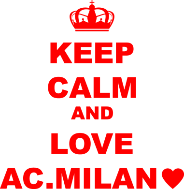 Принт Жіноча футболка Keep calm and love AC Milan, Фото № 1 - FatLine
