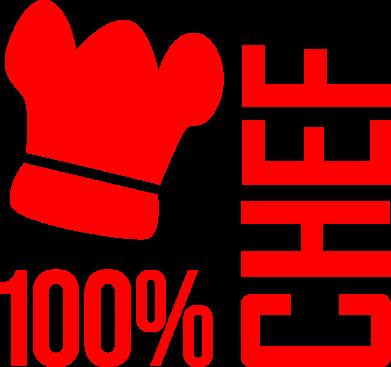 Принт Фартук 100% Chef - FatLine