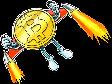 Принт Кепка Bitcoin into space, Фото № 1 - FatLine