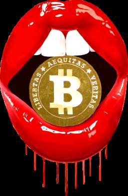 Принт Кепка Bitcoin in the teeth, Фото № 1 - FatLine