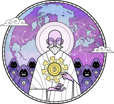 Принт Кепка Bitcoin on the planet, Фото № 1 - FatLine
