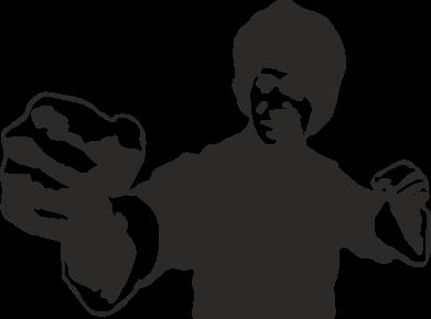 Принт Женская футболка поло Джеки Чан - FatLine