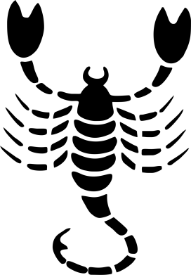 Принт Чоловічі футболки з V-подібним вирізом скорпіон - FatLine