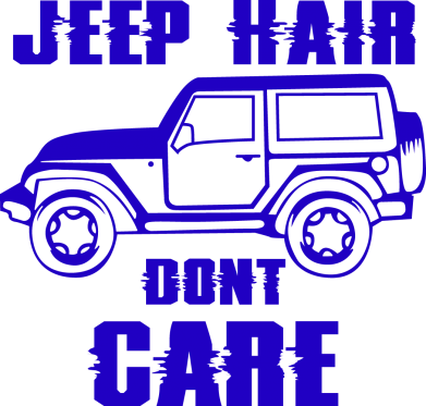 Принт Жіноча футболка Jeep hair don't care, Фото № 1 - FatLine