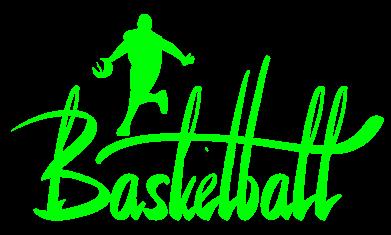 Принт Женская футболка с V-образным вырезом Надпись Баскетбол - FatLine