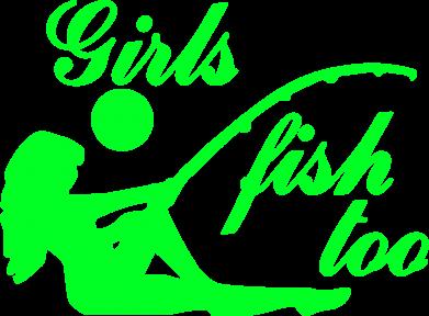 Принт Женская футболка с V-образным вырезом Девушки тоже рыбачат - FatLine
