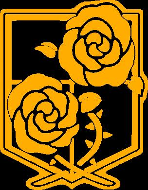 Принт Жіноча футболка Атака на титанів, емблема, Фото № 1 - FatLine