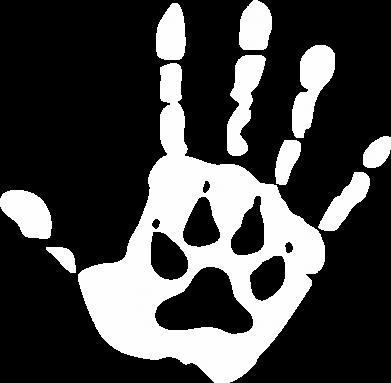 Принт Футболка Рука вовка - FatLine