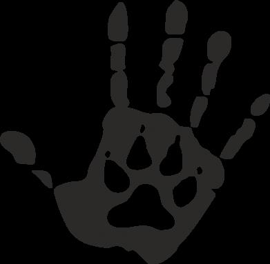 Принт Кружка 320ml Рука волка - FatLine